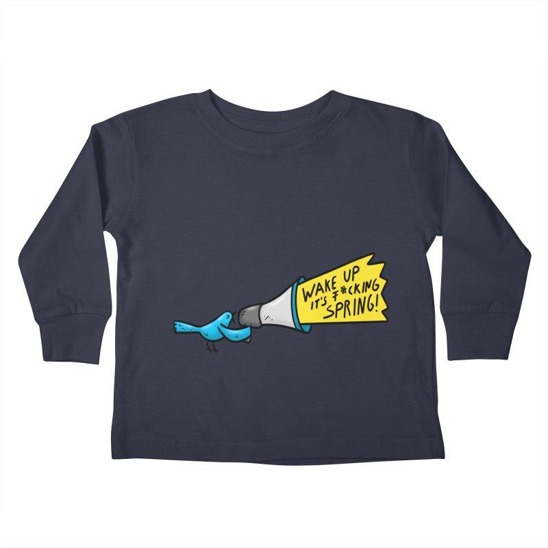 Birdy Spring Kids Toddler Longsleeve T-Shirt by Piratart Illustration