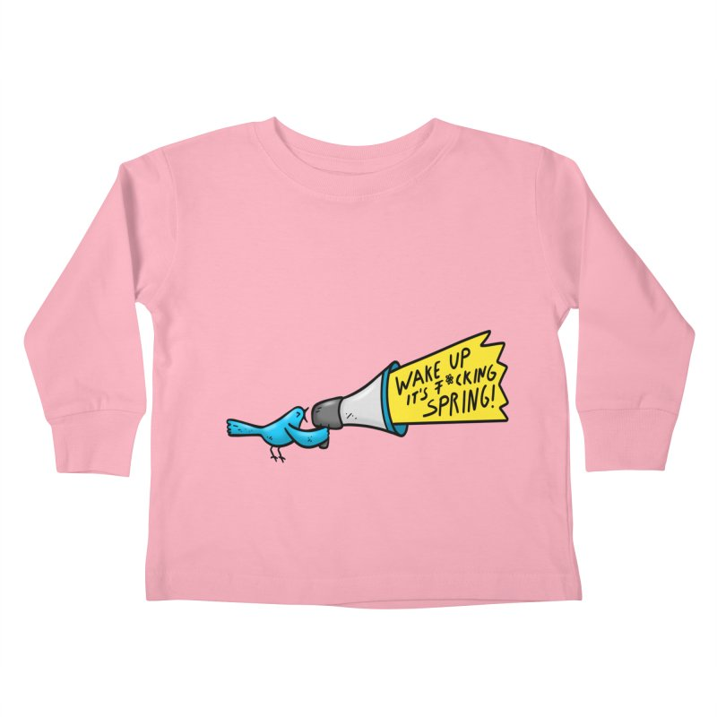 Birdy Spring Kids Toddler Longsleeve T-Shirt by Piratart Illustration