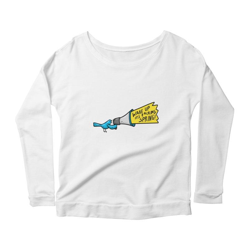 Birdy Spring Women's Scoop Neck Longsleeve T-Shirt by Piratart Illustration