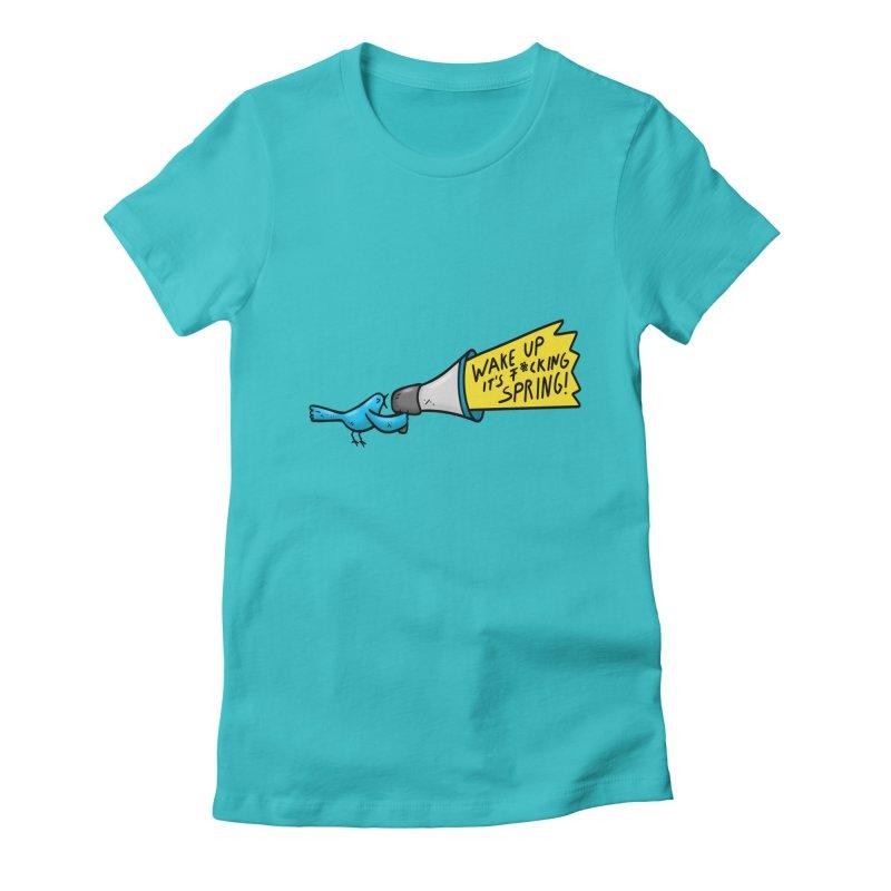 Birdy Spring Women's T-Shirt by Piratart Illustration