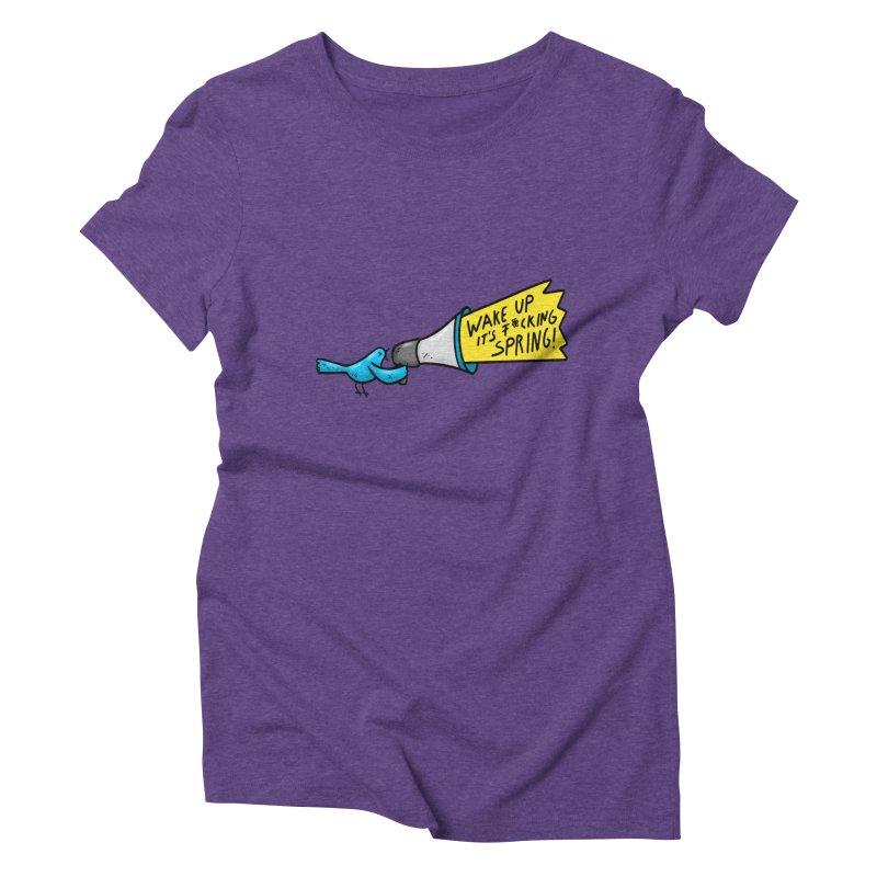 Birdy Spring Women's Triblend T-Shirt by Piratart Illustration