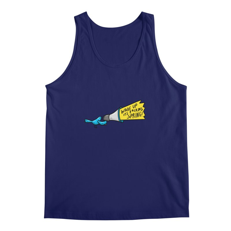 Birdy Spring Men's Regular Tank by Piratart Illustration