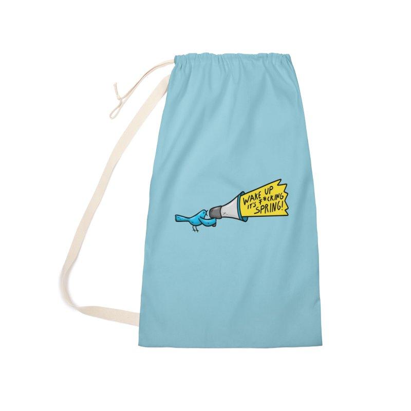 Birdy Spring Accessories Bag by Piratart Illustration