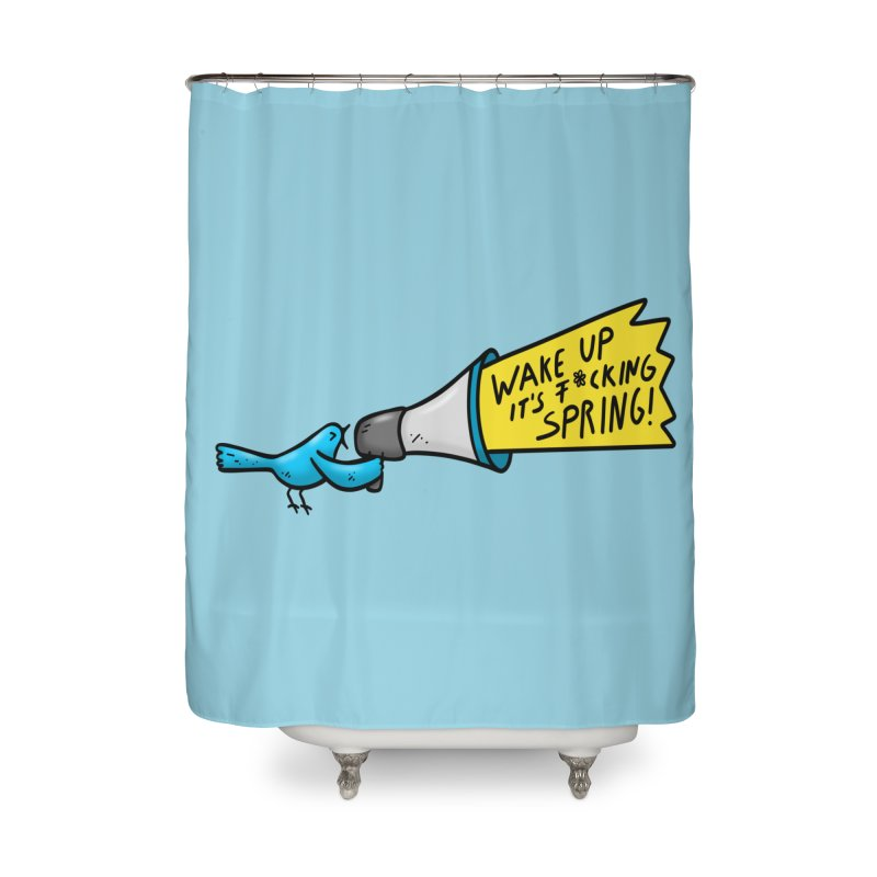 Birdy Spring Home Shower Curtain by Piratart Illustration