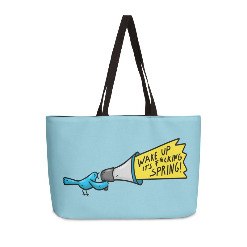 Birdy Spring Accessories Weekender Bag Bag by Piratart Illustration