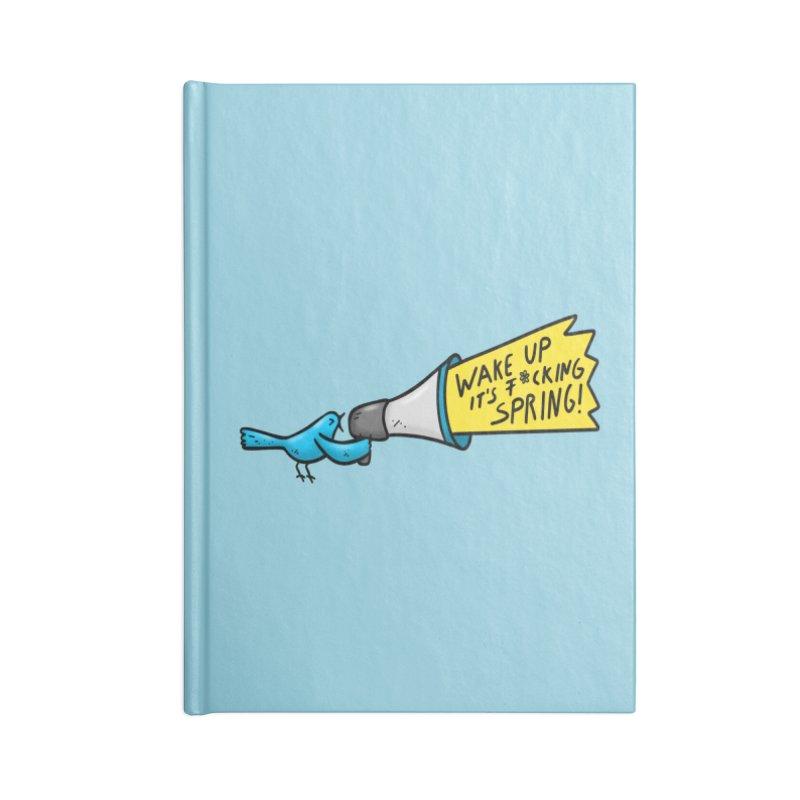 Birdy Spring Accessories Blank Journal Notebook by Piratart Illustration