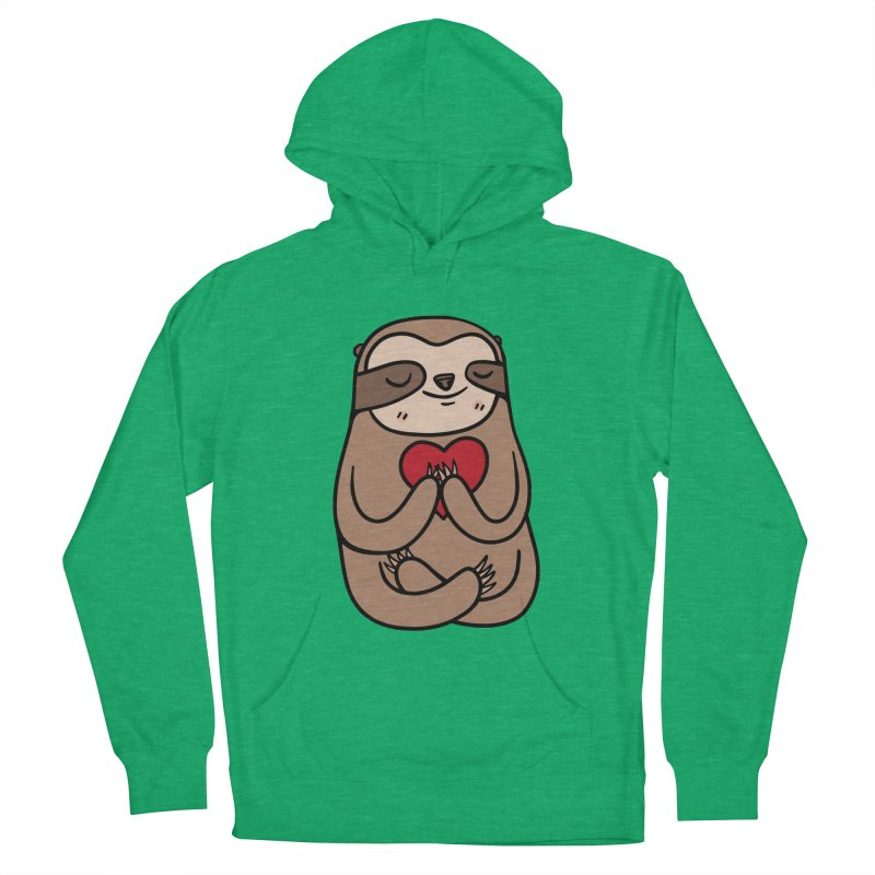 Sloth Love Men's Pullover Hoody by Piratart Illustration