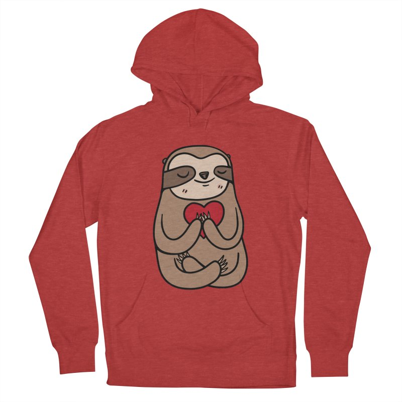 Sloth Love Men's French Terry Pullover Hoody by Piratart Illustration