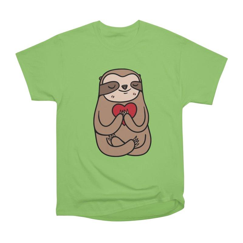 Sloth Love Women's Heavyweight Unisex T-Shirt by Piratart Illustration