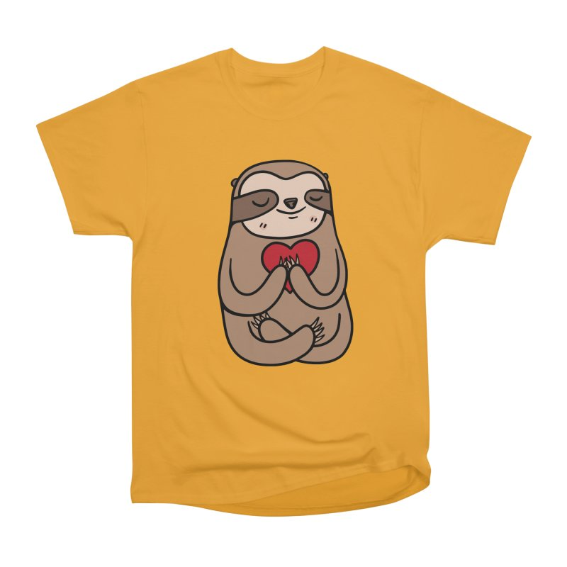 Sloth Love Men's Heavyweight T-Shirt by Piratart Illustration