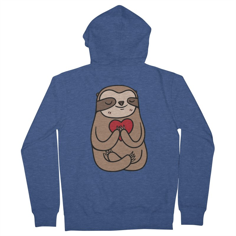Sloth Love Women's Zip-Up Hoody by Piratart Illustration