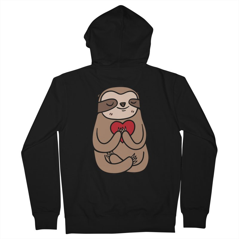 Sloth Love Women's Zip-Up Hoody by Piratart Illustration