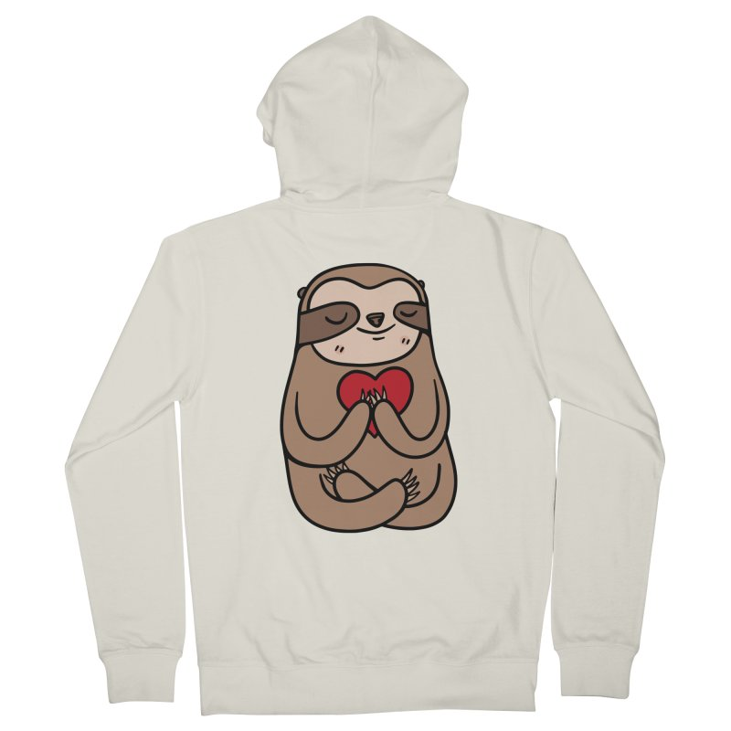 Sloth Love Women's French Terry Zip-Up Hoody by Piratart Illustration