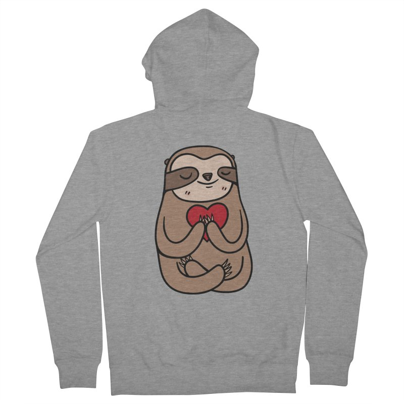 Sloth Love Men's Zip-Up Hoody by Piratart Illustration