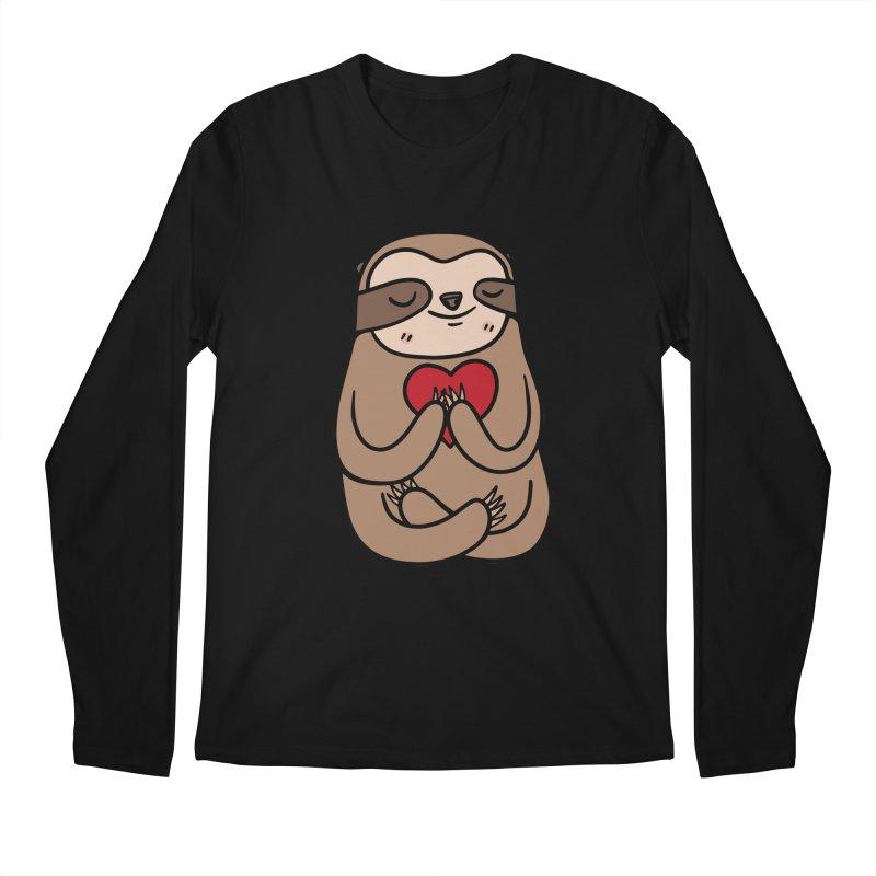 Sloth Love Men's Longsleeve T-Shirt by Piratart Illustration