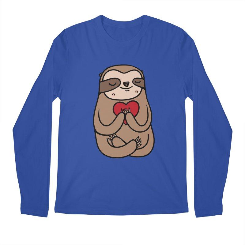 Sloth Love Men's Regular Longsleeve T-Shirt by Piratart Illustration