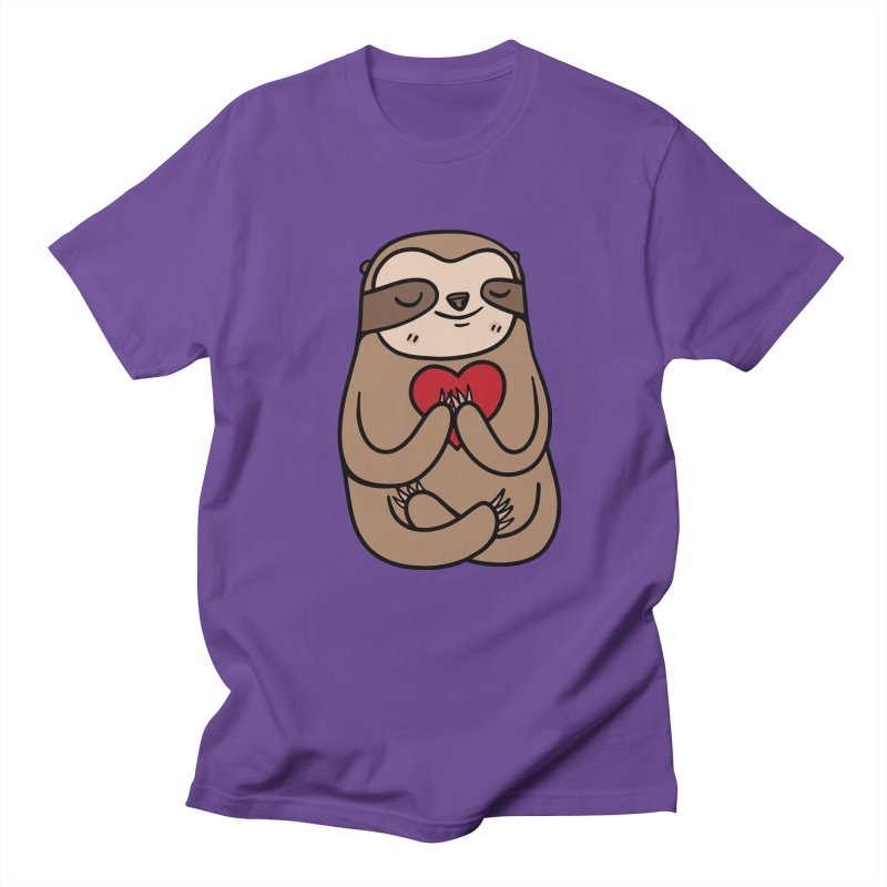 Sloth Love Men's T-Shirt by Piratart Illustration