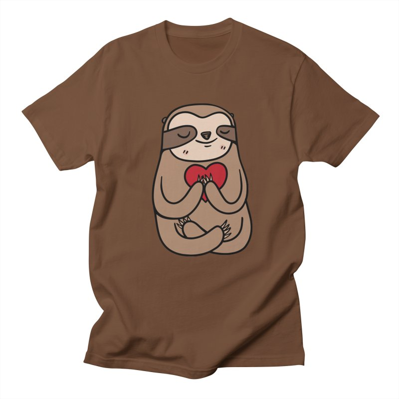 Sloth Love Men's Regular T-Shirt by Piratart Illustration