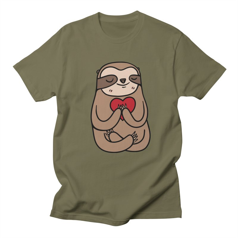 Sloth Love Women's Unisex T-Shirt by Piratart Illustration