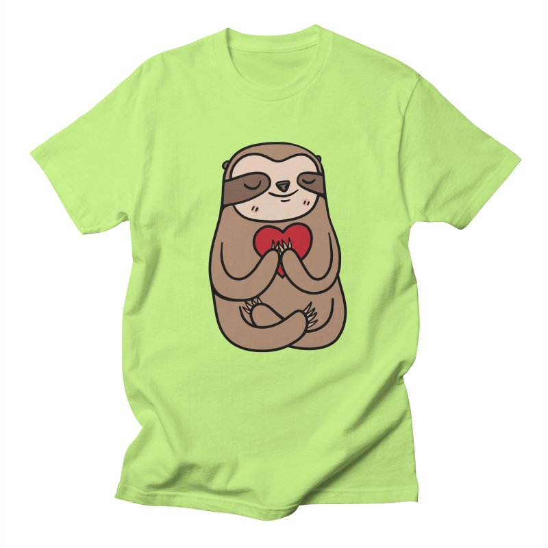 Sloth Love Men's Regular T-Shirt by Piratart Illustration