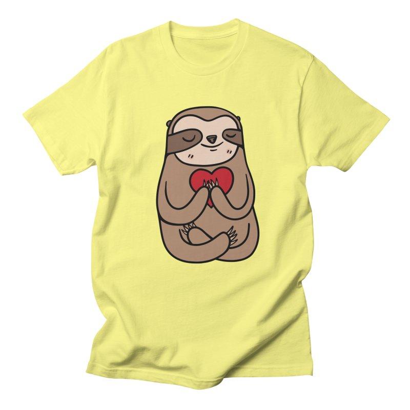 Sloth Love Women's Regular Unisex T-Shirt by Piratart Illustration