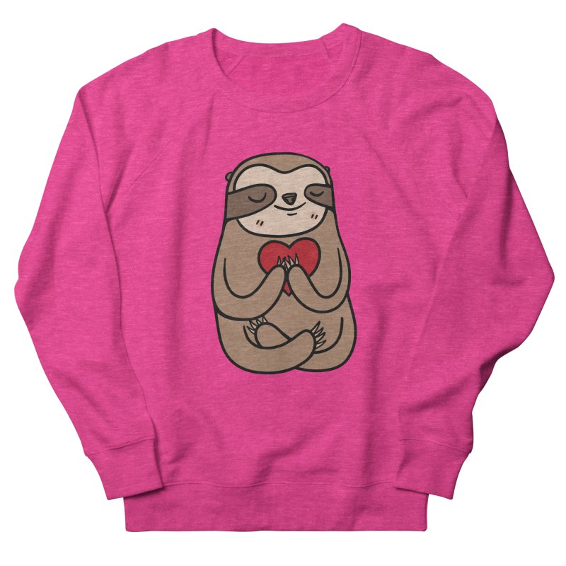 Sloth Love Women's French Terry Sweatshirt by Piratart Illustration