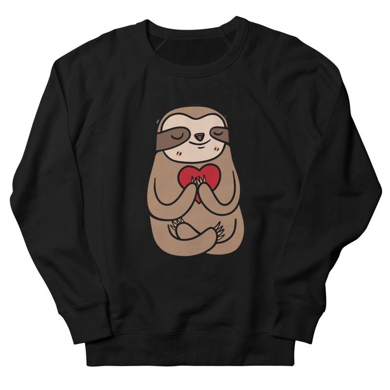Sloth Love Men's French Terry Sweatshirt by Piratart Illustration