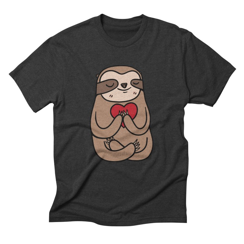 Sloth Love Men's Triblend T-Shirt by Piratart Illustration