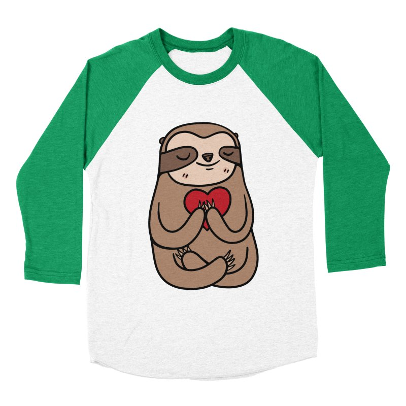 Sloth Love Women's Baseball Triblend Longsleeve T-Shirt by Piratart Illustration