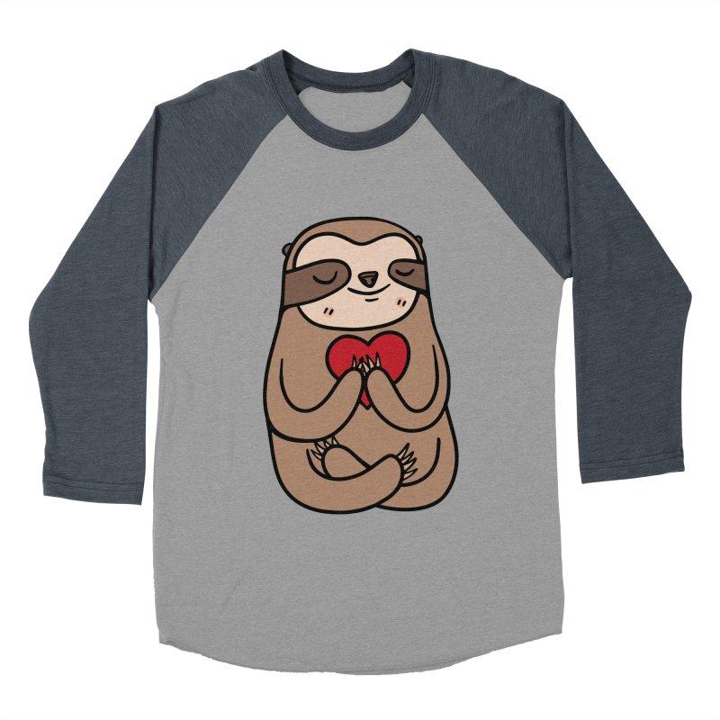Sloth Love Women's Baseball Triblend T-Shirt by Piratart Illustration