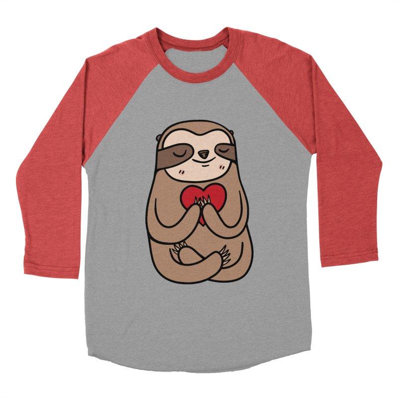 Sloth Love Men's Baseball Triblend Longsleeve T-Shirt by Piratart Illustration