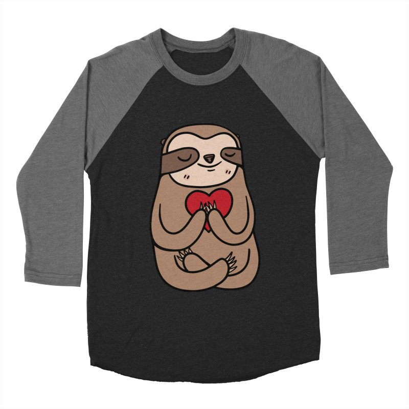 Sloth Love Men's Baseball Triblend T-Shirt by Piratart Illustration
