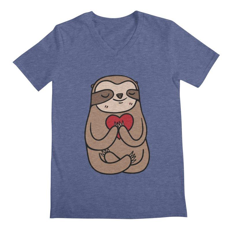 Sloth Love Men's V-Neck by Piratart Illustration