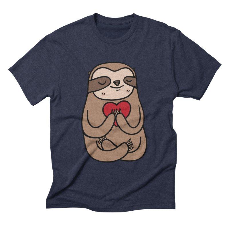 Sloth Love Men's Triblend T-shirt by Piratart Illustration