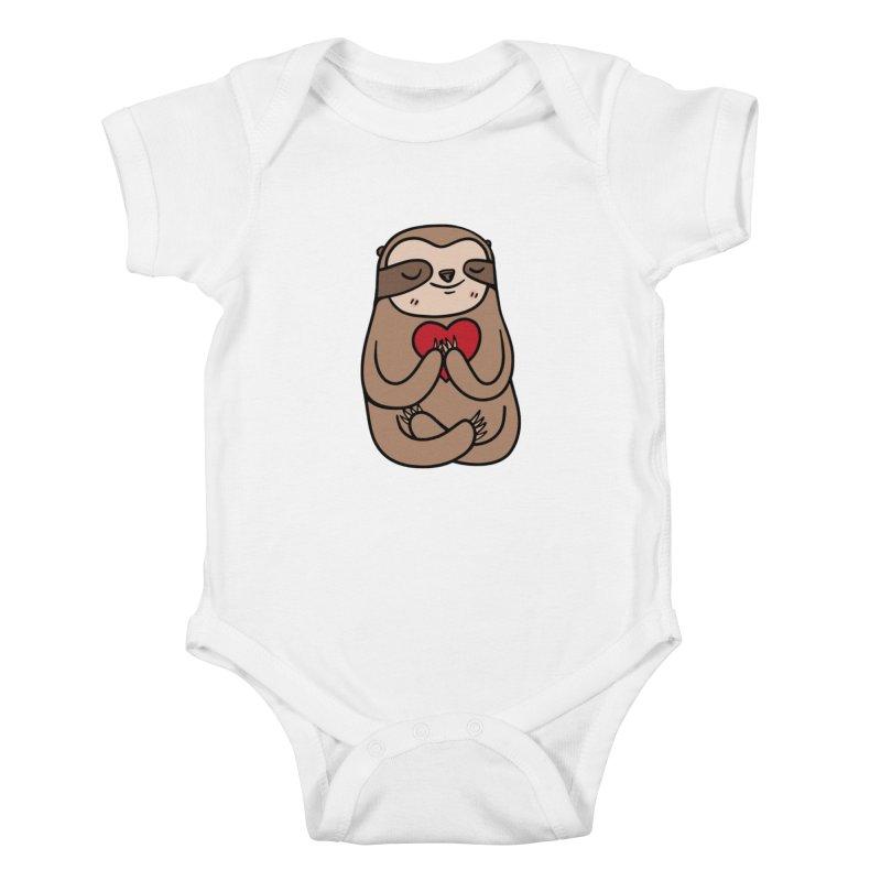 Sloth Love Kids Baby Bodysuit by Piratart Illustration