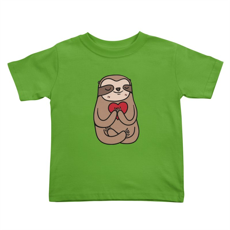 Sloth Love Kids Toddler T-Shirt by Piratart Illustration