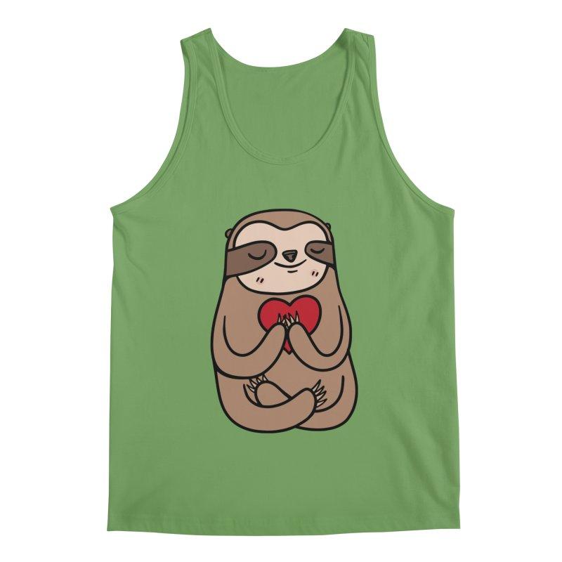 Sloth Love Men's Tank by Piratart Illustration