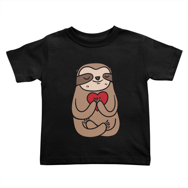 Sloth Love Kids Toddler T-Shirt by Piratart Illustration