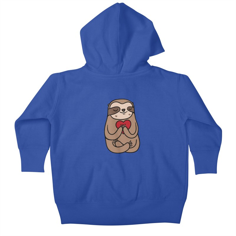 Sloth Love Kids Baby Zip-Up Hoody by Piratart Illustration