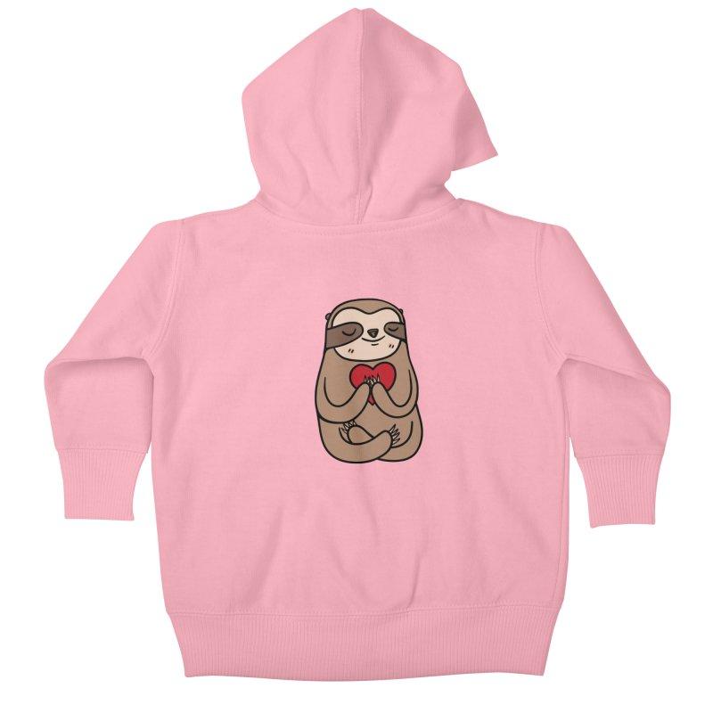 Sloth Love Kids Baby Zip-Up Hoody by Piratart Illustration
