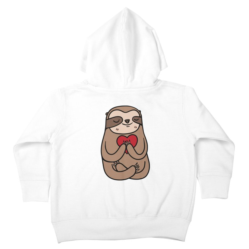 Sloth Love Kids Toddler Zip-Up Hoody by Piratart Illustration