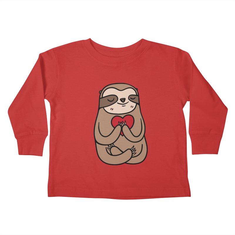 Sloth Love Kids Toddler Longsleeve T-Shirt by Piratart Illustration