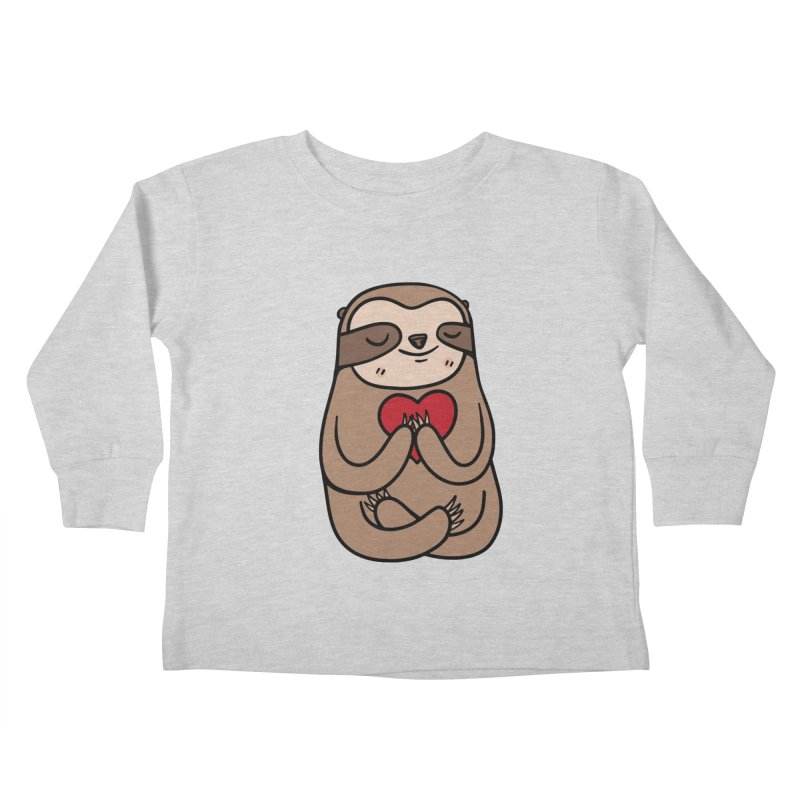 Sloth Love Kids Toddler Longsleeve T-Shirt by Piratart Illustration