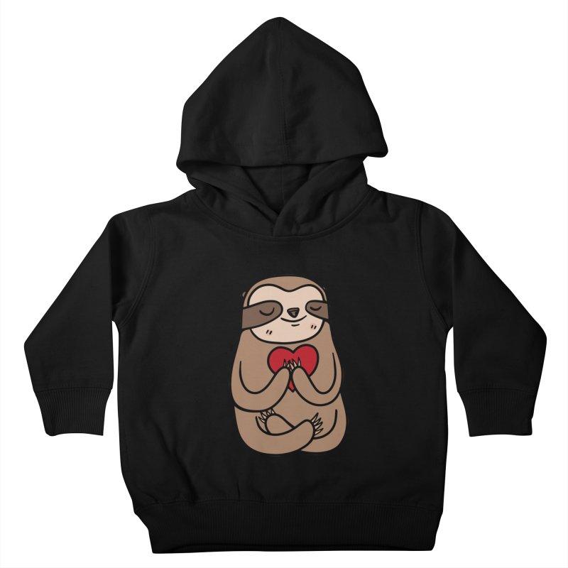 Sloth Love Kids Toddler Pullover Hoody by Piratart Illustration