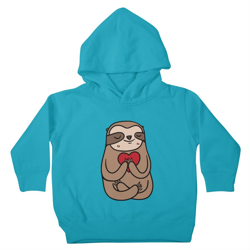 Sloth Love Kids Toddler Pullover Hoody by Piratart Illustration