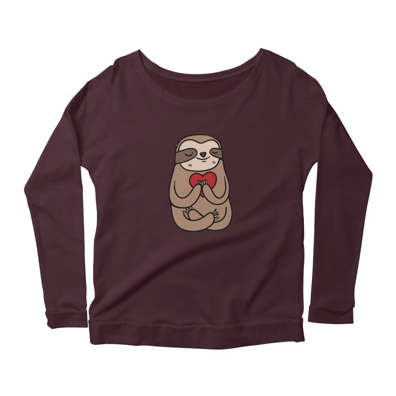 Sloth Love Women's Longsleeve T-Shirt by Piratart Illustration