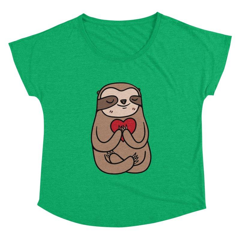 Sloth Love Women's Dolman by Piratart Illustration