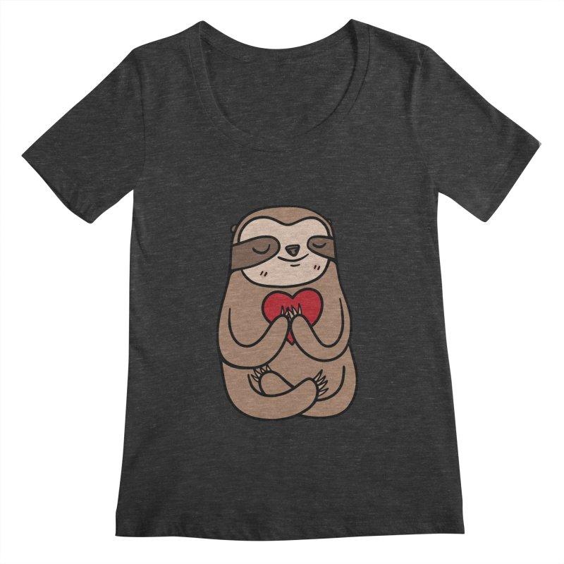 Sloth Love Women's Scoopneck by Piratart Illustration