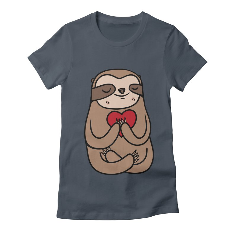 Sloth Love Women's T-Shirt by Piratart Illustration