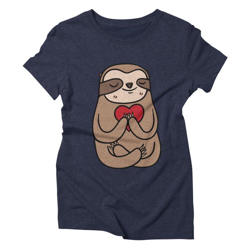 Sloth Love Women's Triblend T-shirt by Piratart Illustration